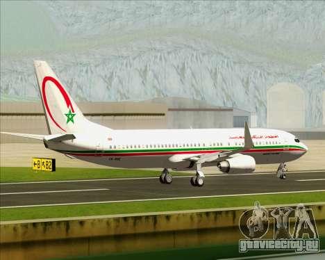 Boeing 737-8B6 Royal Air Maroc (RAM) для GTA San Andreas вид изнутри