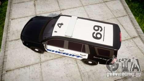 Chevrolet Tahoe 2015 Sheriff [ELS] для GTA 4 вид справа