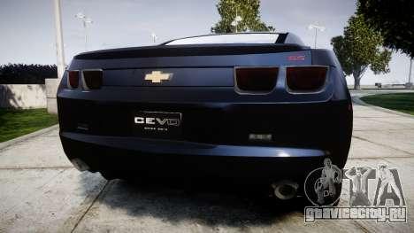 Chevrolet Camaro SS [ELS] Unmarked interceptors для GTA 4 вид сзади слева