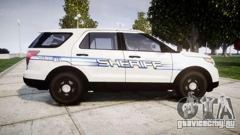 Ford Explorer 2013 [ELS] Liberty County Sheriff для GTA 4 вид слева