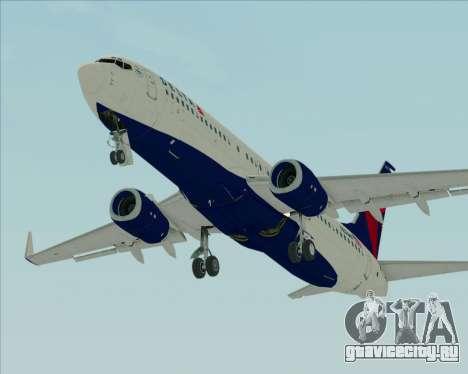 Boeing 737-800 Delta Airlines для GTA San Andreas вид изнутри