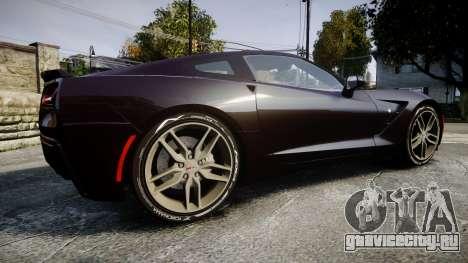 Chevrolet Corvette C7 Stingray 2014 v2.0 TireYA2 для GTA 4 вид слева
