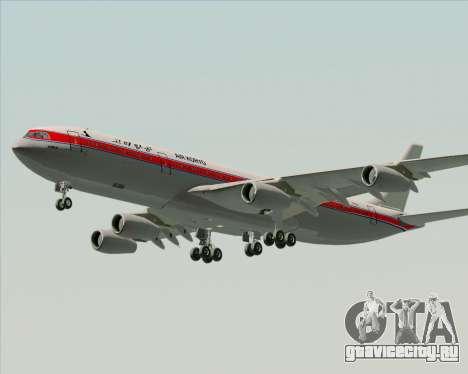 Airbus A340-300 Air Koryo для GTA San Andreas вид изнутри