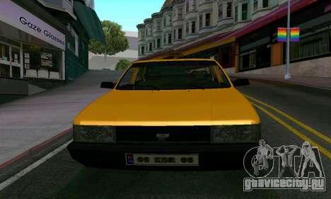 Tofas Sahin Taxi для GTA San Andreas вид изнутри