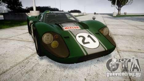 Ford GT40 Mark IV 1967 PJ Mixlub 21 для GTA 4