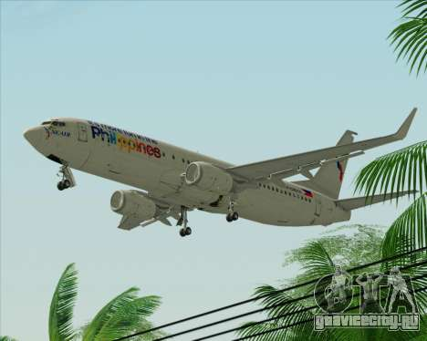 Boeing 737-800 South East Asian Airlines (SEAIR) для GTA San Andreas вид сзади слева