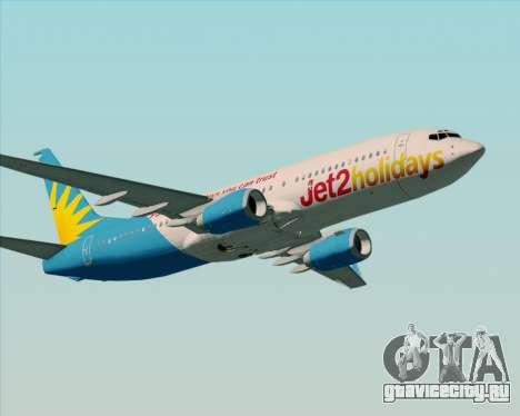 Boeing 737-800 Jet2Holidays для GTA San Andreas вид справа