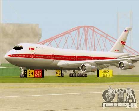Boeing 747-100 Trans World Airlines (TWA) для GTA San Andreas вид слева
