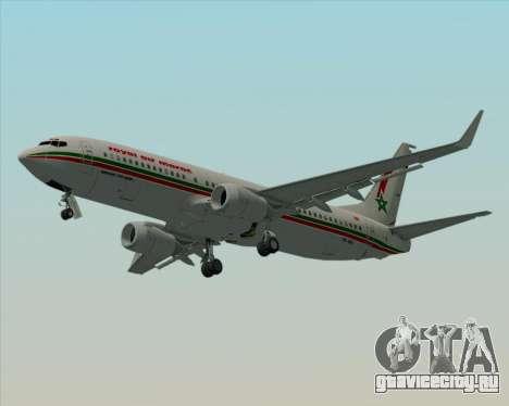 Boeing 737-8B6 Royal Air Maroc (RAM) для GTA San Andreas вид сверху