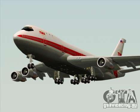 Boeing 747-100 Trans World Airlines (TWA) для GTA San Andreas двигатель