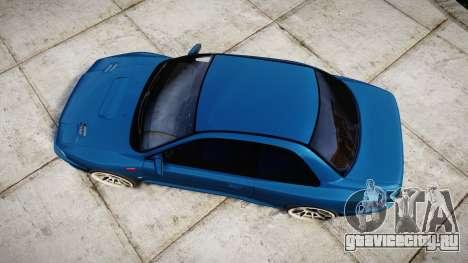 Subaru Impreza 22B Street для GTA 4 вид справа