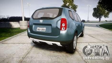 Dacia Duster 2013 для GTA 4 вид сзади слева