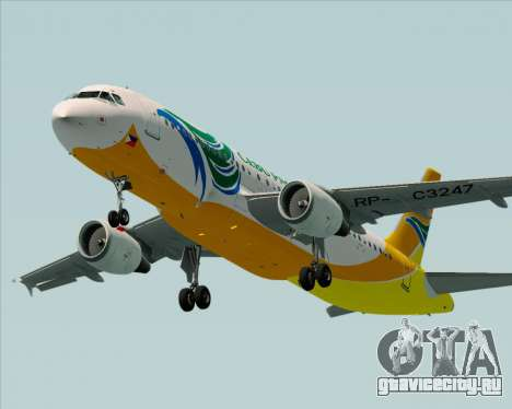 Airbus A320-200 Cebu Pacific Air для GTA San Andreas двигатель