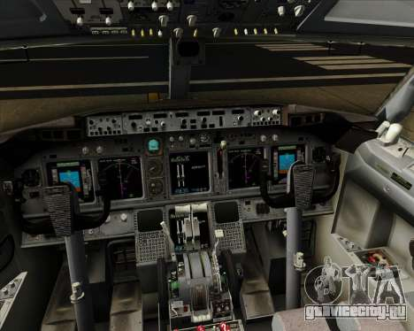 Boeing 737-800 XL Airways для GTA San Andreas салон