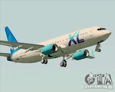 Boeing 737-800 XL Airways для GTA San Andreas колёса