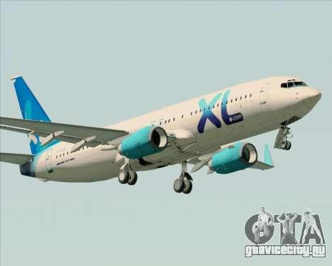 Boeing 737-800 XL Airways для GTA San Andreas колёса
