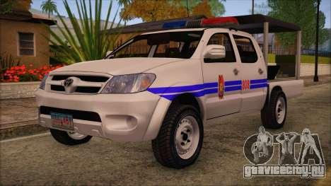 Toyota HiLux Philippine Police Car 2010 для GTA San Andreas