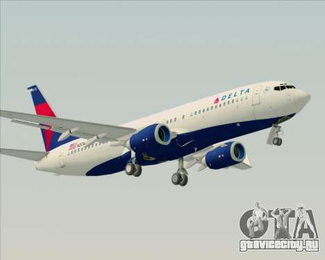 Boeing 737-800 Delta Airlines для GTA San Andreas вид справа