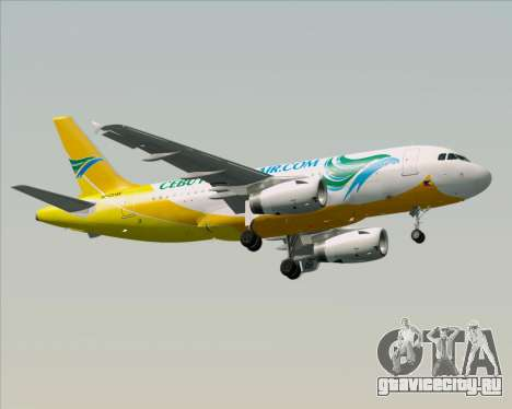 Airbus A319-100 Cebu Pacific Air для GTA San Andreas вид сверху
