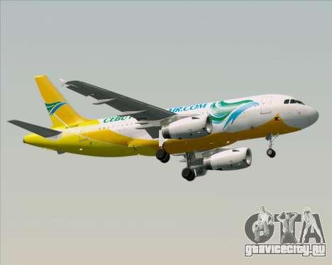 Airbus A319-100 Cebu Pacific Air для GTA San Andreas вид сверху