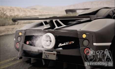 Pagani Zonda 760RS для GTA San Andreas вид справа