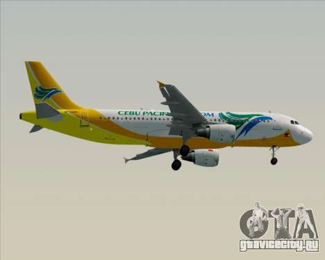 Airbus A320-200 Cebu Pacific Air для GTA San Andreas вид сзади