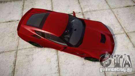Chevrolet Corvette C7 Stingray 2014 v2.0 TireBr2 для GTA 4 вид справа