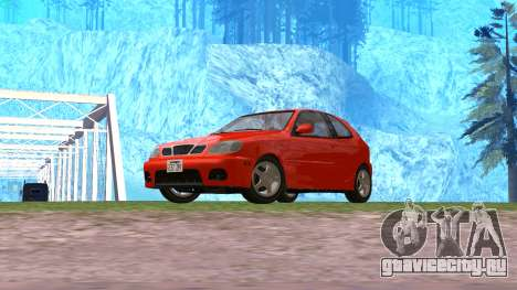 Daewoo Lanos Sport 2001 г. США для GTA San Andreas вид справа