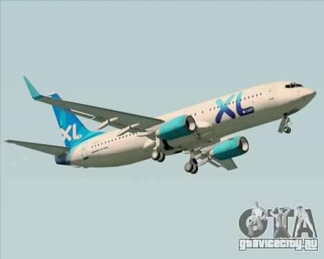 Boeing 737-800 XL Airways для GTA San Andreas вид сбоку