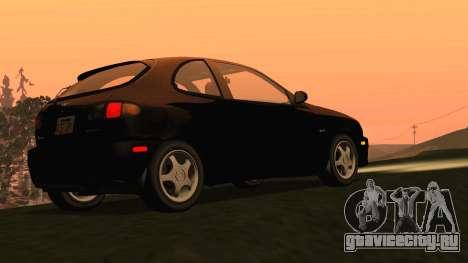 Daewoo Lanos Sport 2001 г. США для GTA San Andreas вид сзади слева