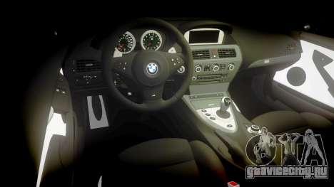 BMW M6 Vossen VVS CV3 для GTA 4 вид изнутри