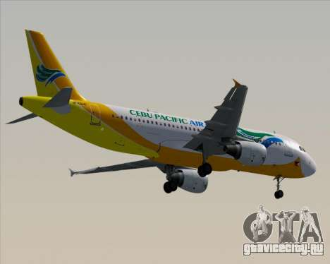 Airbus A320-200 Cebu Pacific Air для GTA San Andreas вид снизу