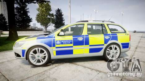 Skoda Octavia vRS Comb Metropolitan Police [ELS] для GTA 4 вид слева