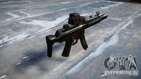 Пистолет-пулемёт MP5SD EOTHS CS b target для GTA 4 второй скриншот