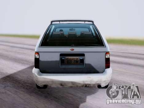 GTA V Minivan для GTA San Andreas вид сзади слева