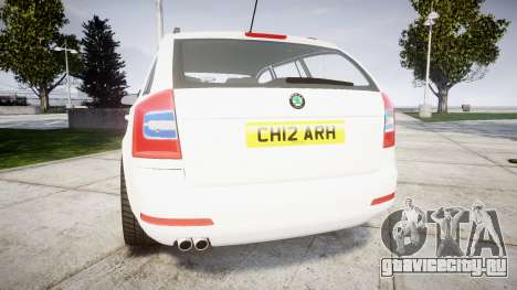 Skoda Octavia vRS Combi Unmarked Police [ELS] для GTA 4 вид сзади слева