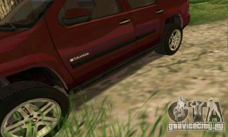 Chevrolet Tahoe Final для GTA San Andreas салон