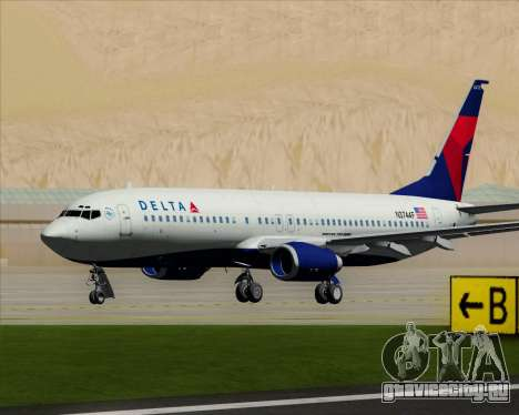 Boeing 737-800 Delta Airlines для GTA San Andreas вид слева