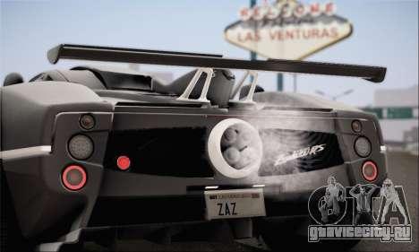 Pagani Zonda 760RS для GTA San Andreas вид слева
