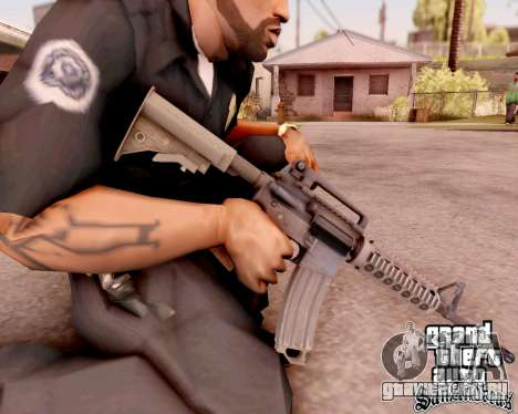 M4A1 BF4 для GTA San Andreas четвёртый скриншот