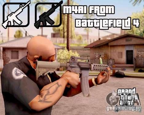 M4A1 BF4 для GTA San Andreas третий скриншот