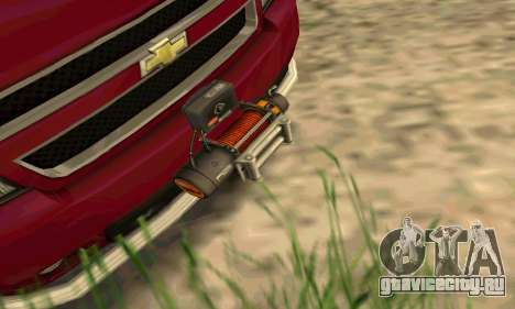 Chevrolet Tahoe Final для GTA San Andreas вид сзади