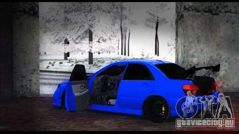 Subaru Impreza WRX STI для GTA San Andreas вид справа