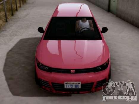 GTA 5 Blista для GTA San Andreas вид справа