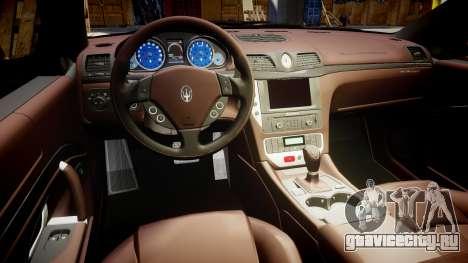 Maserati GranTurismo S 2010 PJ 4 для GTA 4 вид сзади