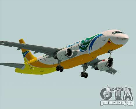 Airbus A320-200 Cebu Pacific Air для GTA San Andreas вид справа