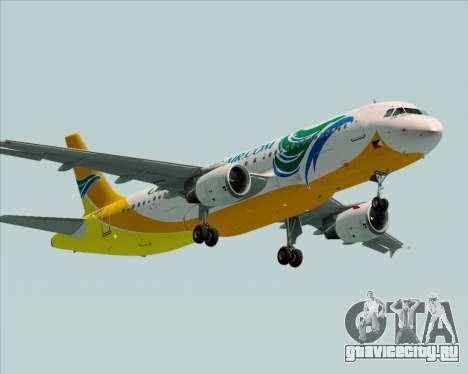 Airbus A320-200 Cebu Pacific Air для GTA San Andreas вид справа