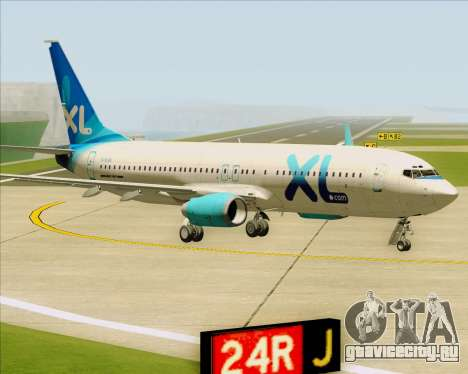Boeing 737-800 XL Airways для GTA San Andreas вид слева