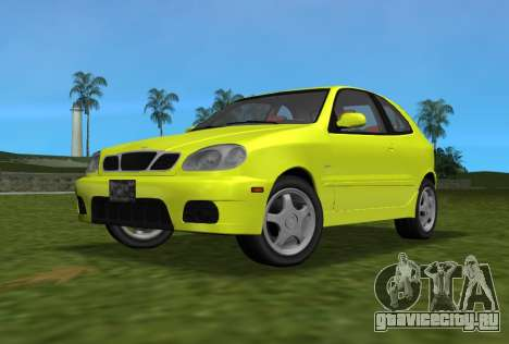 Daewoo Lanos Sport 2001 г. США для GTA Vice City вид сзади