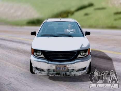 GTA V Minivan для GTA San Andreas вид справа